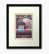 SUPERCLAIRE - Thomas Was Alone Framed Print