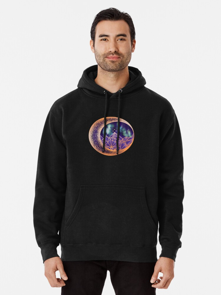 Alternate view of gold night court insignia Pullover Hoodie