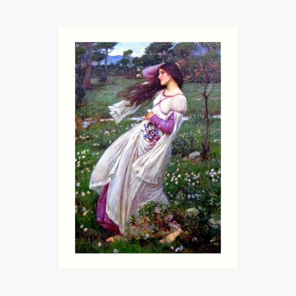 Windflowers - John William Waterhouse Art Print