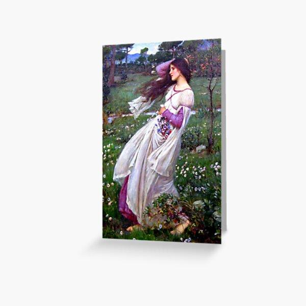 Windblumen - John William Waterhouse Grußkarte