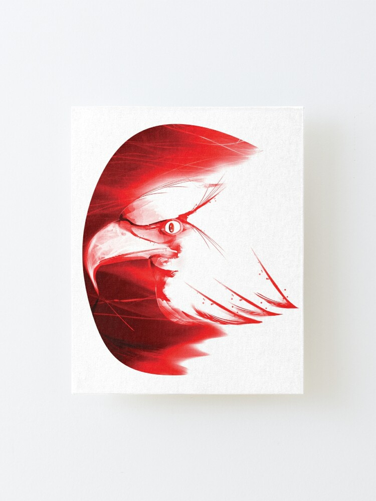 Alternate view of Red Eagle Head Design Mounted Print