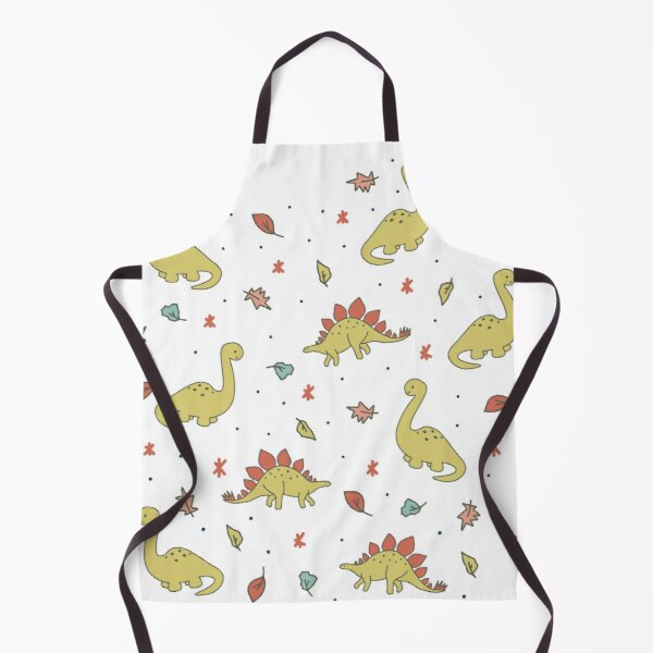 Jurassic Plant-Eating Dinosaurs Apron
