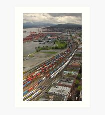 Vancouver Downtown East Side From Above Art Print