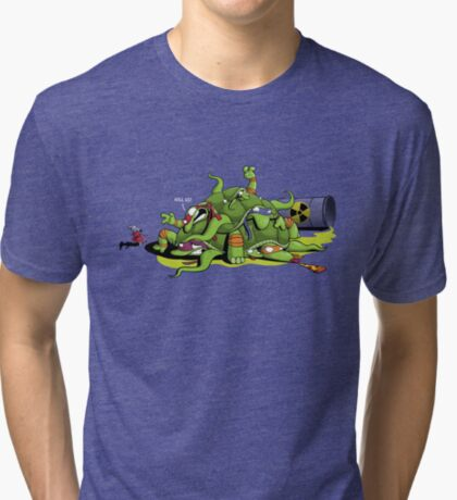 Hideously Mutated Ninja Turtles Tri-blend T-Shirt