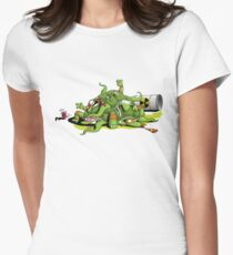 Hideously Mutated Ninja Turtles Womens Fitted T-Shirt