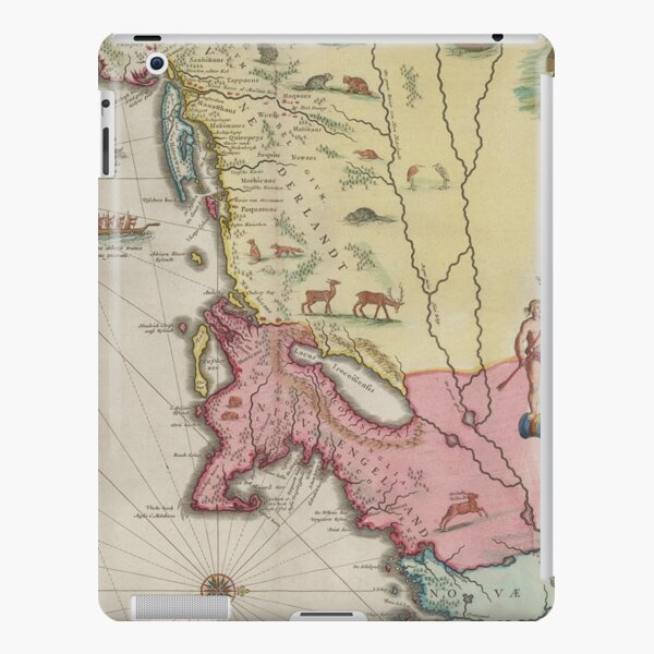 Vintage Map of New England (1665) iPad Snap Case