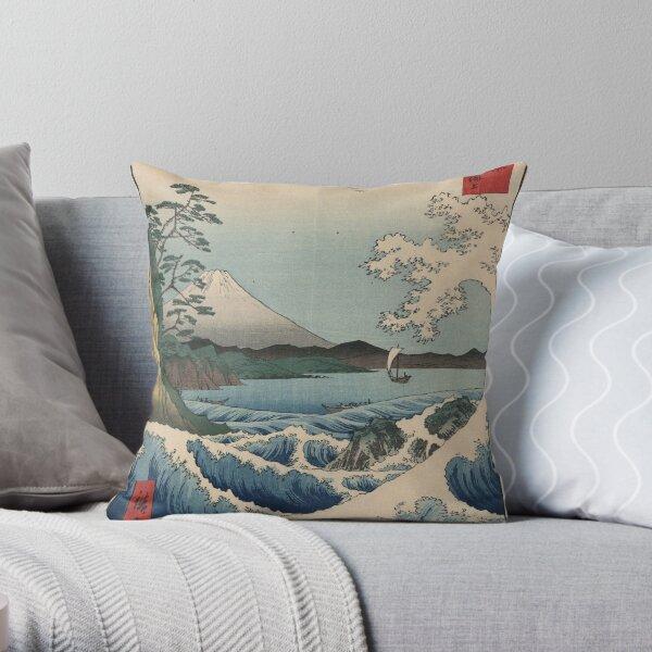 Ando Hiroshige - Sea At Satta In Suruga Province Throw Pillow