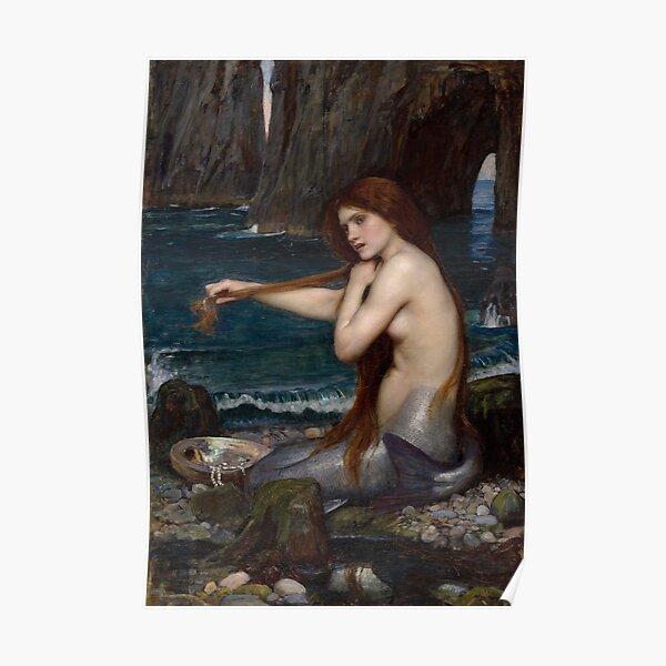 The Mermaid - John William Waterhouse Poster