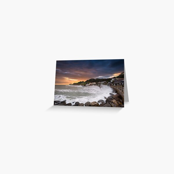 Steephill Cove Storm Isle Of Wight Greeting Card