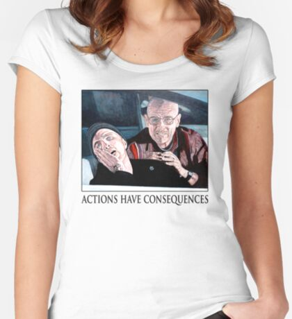Actions Have Consequences Women's Fitted Scoop T-Shirt