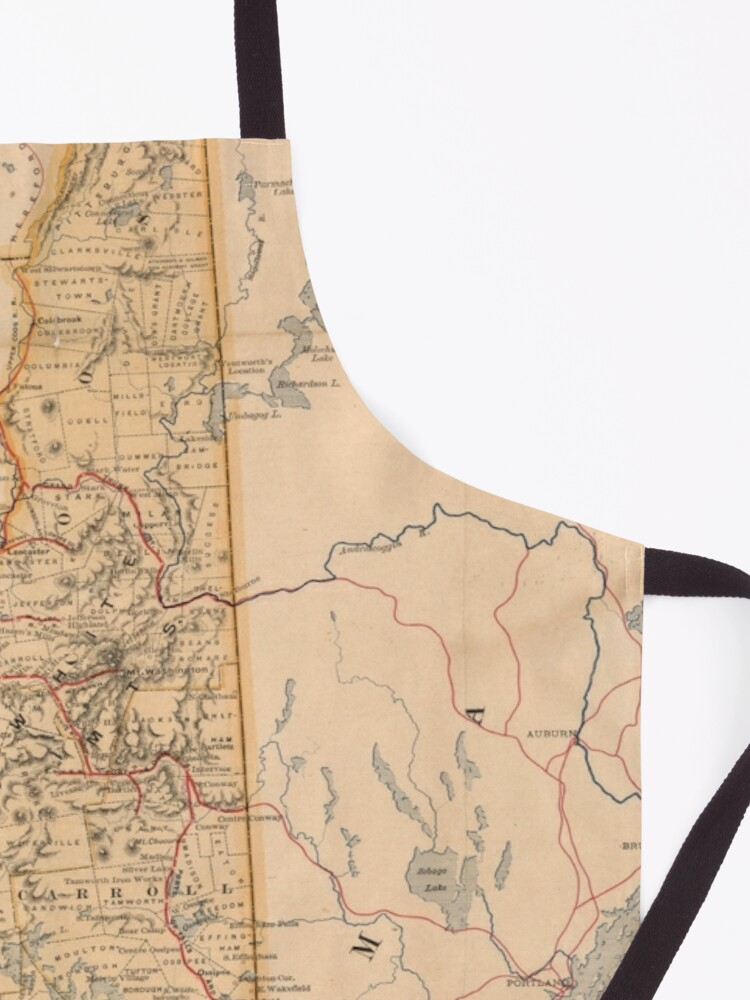Alternate view of Vintage Map of New Hampshire (1890) Apron