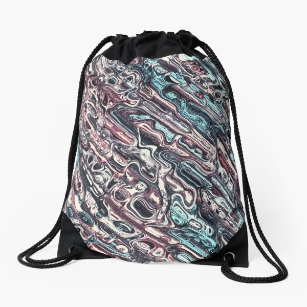 Melting Shapes Pattern Drawstring Bag