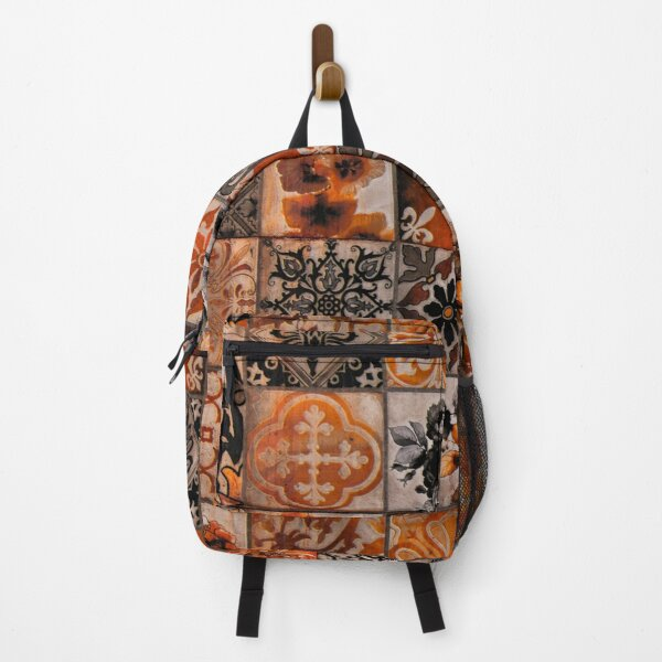 Seamless Damask Pattern Abstract Tiles Set Backpack