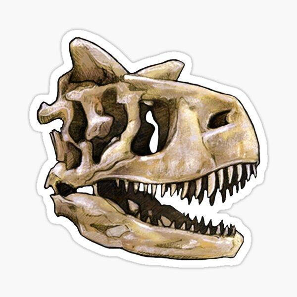 Dinosaur Skull Carnotaurus Sticker Sticker