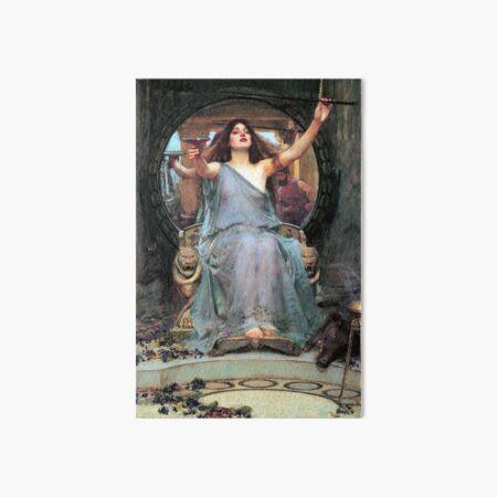 Circe offering the cup to Odysseus - John William Waterhouse Art Board Print