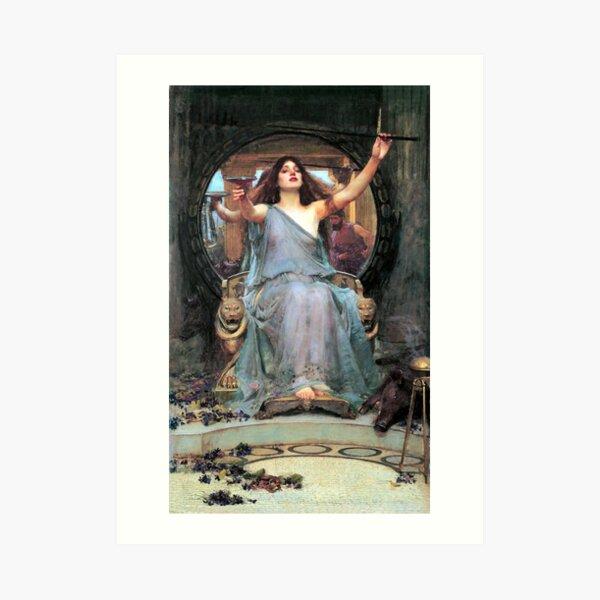 Circe offering the cup to Odysseus - John William Waterhouse Art Print