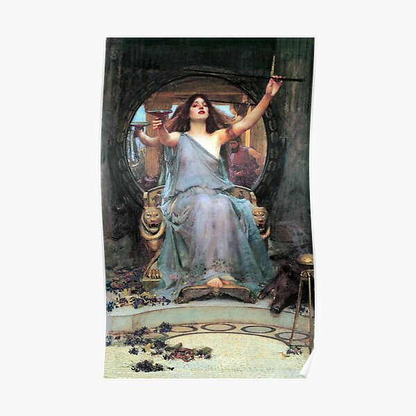 Circe offering the cup to Odysseus - John William Waterhouse Poster
