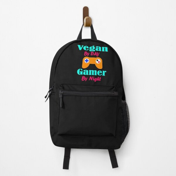 Vegan By Day Gamer By Night Backpack