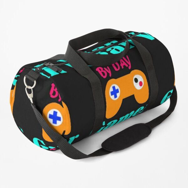 Vegan By Day Gamer By Night Duffle Bag