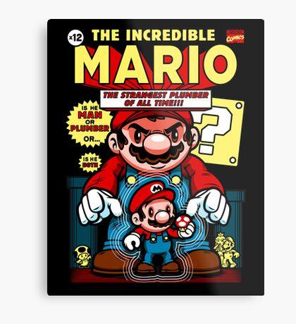 Incredible Mario Metal Print