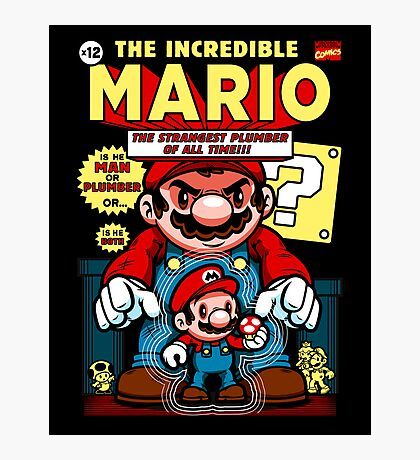 Incredible Mario Photographic Print