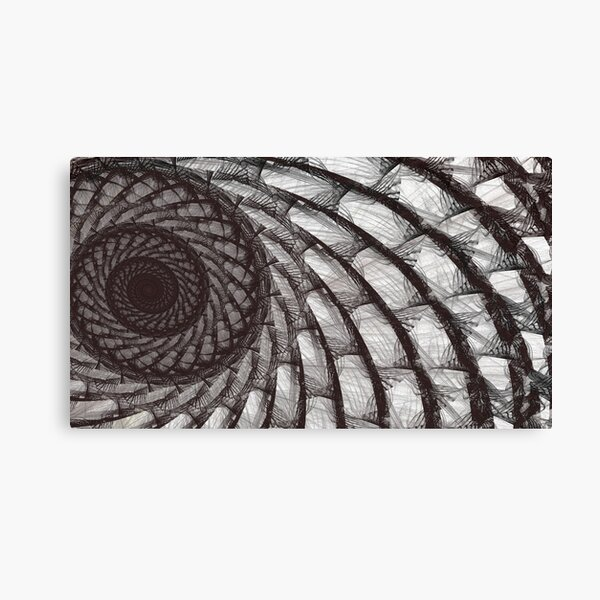 Spiral Butterfly Wing Fractal Artwork Canvas Print