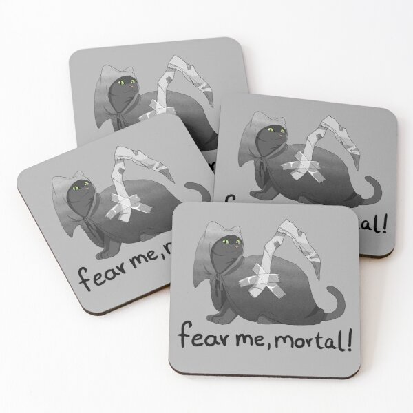 Fear me, mortal! Coasters (Set of 4)