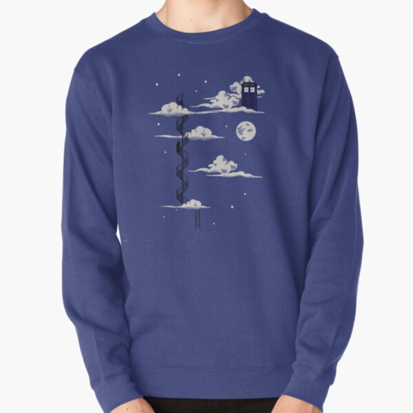 He lives on a cloud in the sky Pullover Sweatshirt