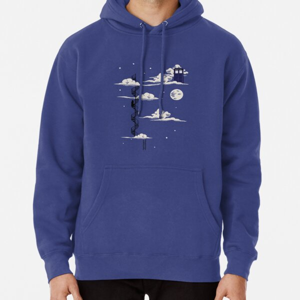 He lives on a cloud in the sky Pullover Hoodie