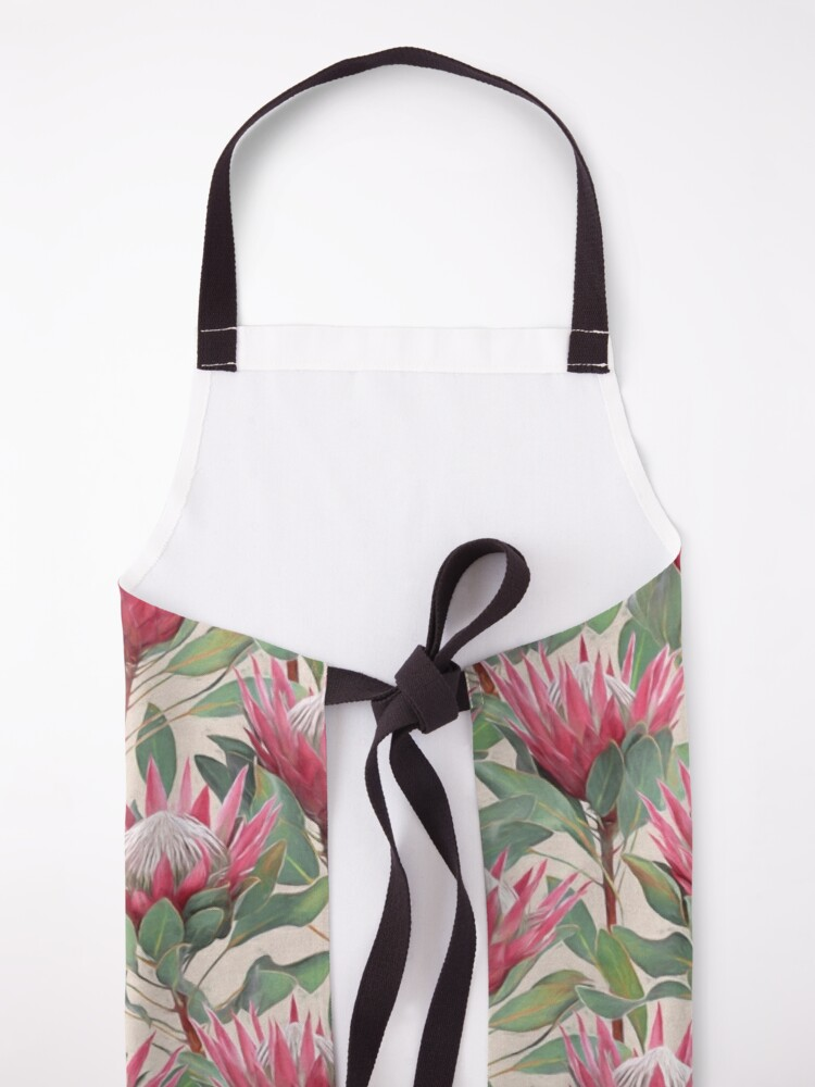 Alternate view of Painted King Proteas on Cream  Apron