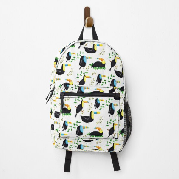 Totally Tropical Toucans With Leaves Backpack