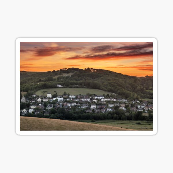 Brading Sunset Isle Of Wight Sticker