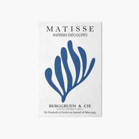 Henri Matisse - The Cutouts - Blue - Matisse Print Art Board Print