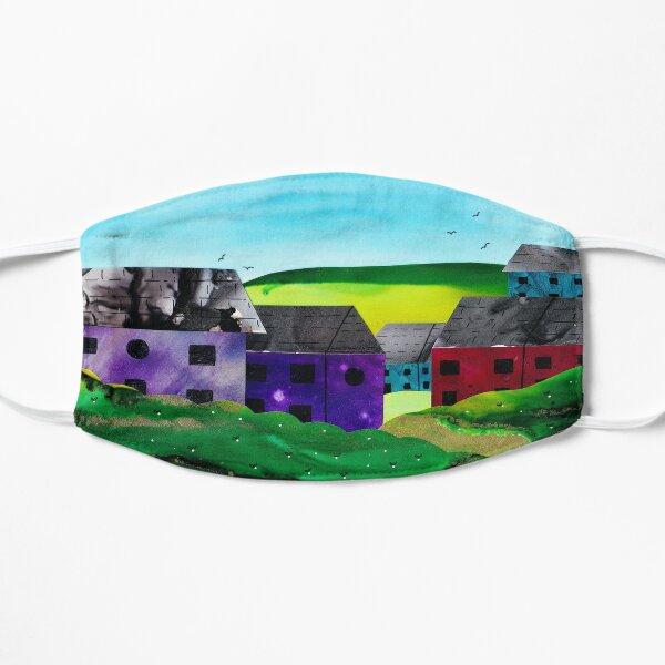 Cute Colouful Houses Flat Mask