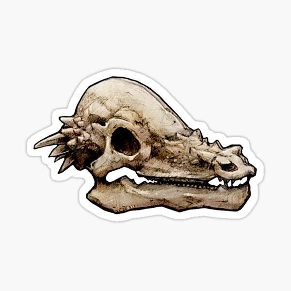 Dinosaur Skull Pachcephalosaurs Sticker Sticker