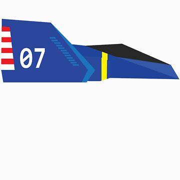F-Zero - Captain Falcon's Blue Falcon by JamezyJohnson