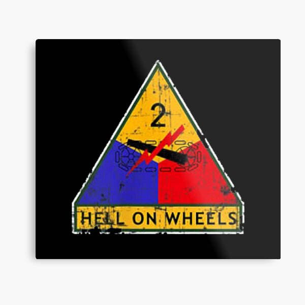 Vintage 2nd Hell From The Wheels Metal Print