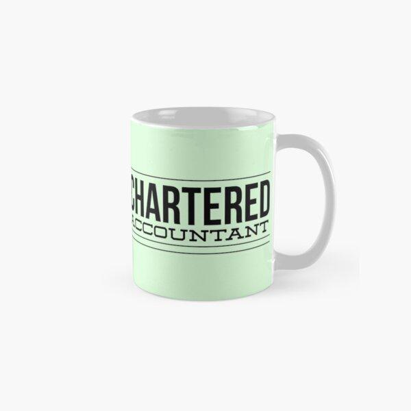 Chartered Accountant Black Typography Gift Classic Mug