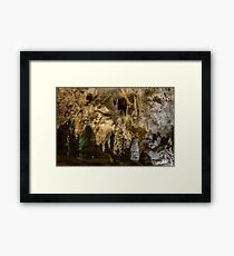 Exploring the Cave - Carlsbad Caverns  Framed Print