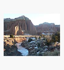 Cathedrals and Frozen Stream Photographic Print