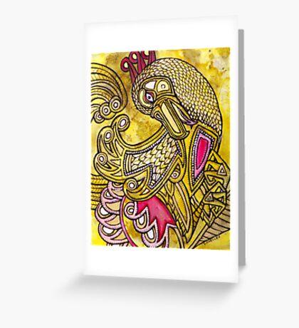 Dancing Bird Greeting Card