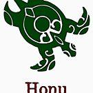 Tribal Hawaiian Green Sea Turtle by pjwuebker