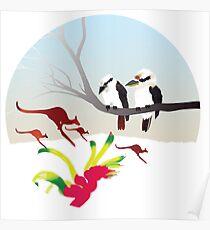 "Day 143   365 Day Creative Project  ""Kangaroos & Kookaburras"" Poster"