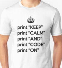 Keep Calm And Carry On - BASIC - Black Unisex T-Shirt