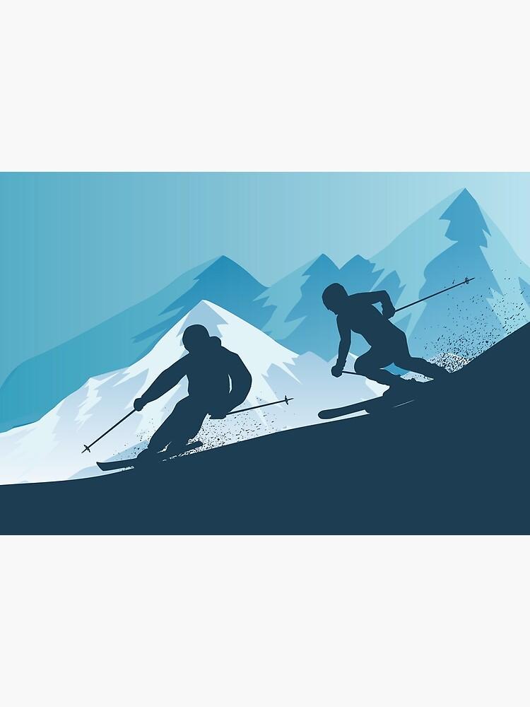Best Skiing Design Ever by shailpawar