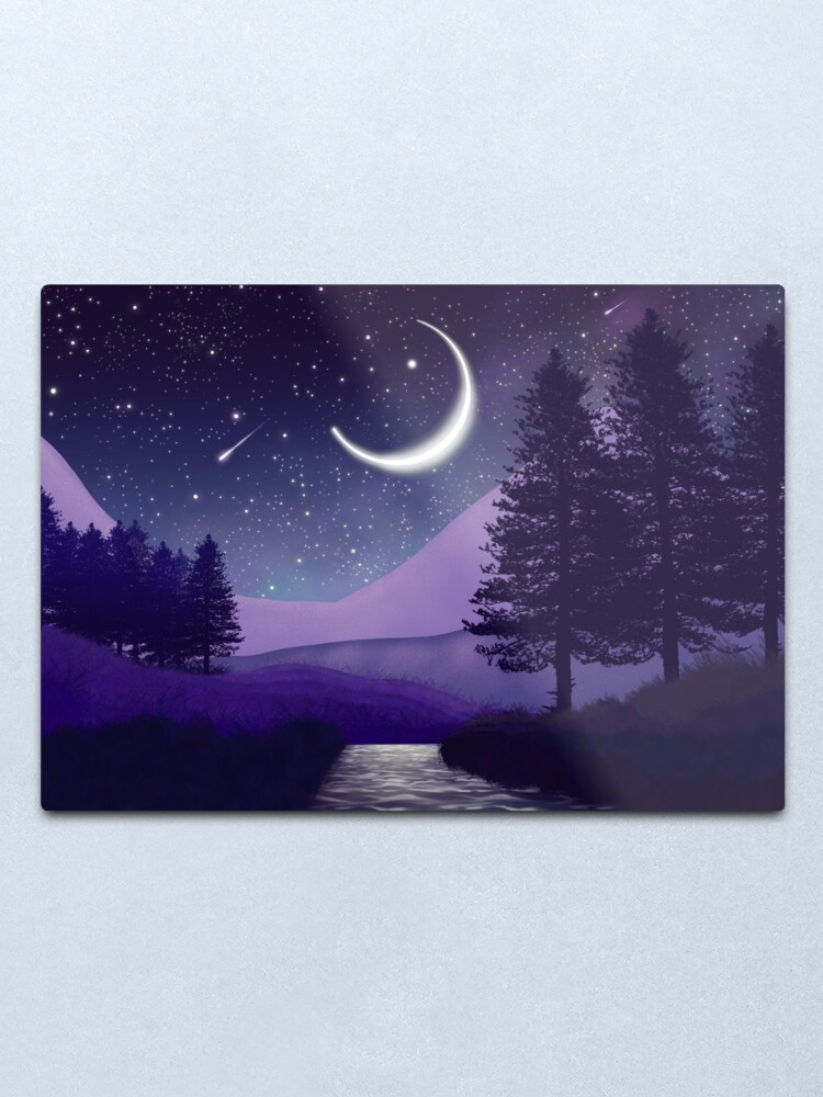 Alternate view of Magical landscape near the river Metal Print