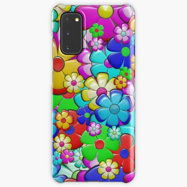 colorful flower  Samsung Galaxy Snap Case