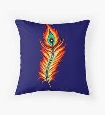 Phoenix Feather Throw Pillow