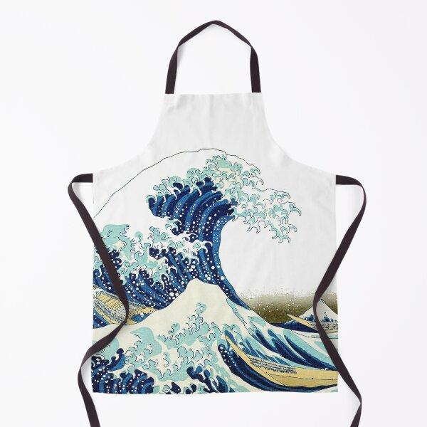 HOKUSAI. The Great Wave off Kanagawa, BRIGHTENED. Apron