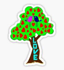 °•Ƹ̵̡Ӝ̵̨̄Ʒ♥Sweet Lovebirds Kissing on a Romantic Love Tree Clothing & Stickers♥Ƹ̵̡Ӝ̵̨̄Ʒ•° Sticker